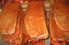 Dry cured smoked bacon